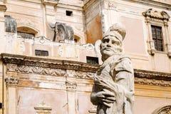 Pretoria Fountain, Palermo. Fountain Pretoria, Palermo - detail of a statue Stock Images