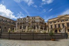 Pretoria fountain in Palermo Royalty Free Stock Photography