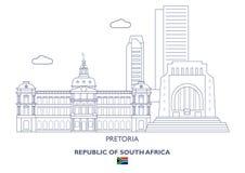 Pretoria miasta linia horyzontu, Południowa Afryka Obrazy Stock