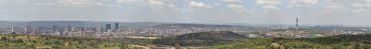 Pretoria Panorama. A panorama of Pretoria, Capital of South Africa, including the University Royalty Free Stock Photo