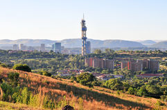 Pretoria Skyline View. View of Pretoria, South Africa from Fort Klapperkop at sunset Stock Photography