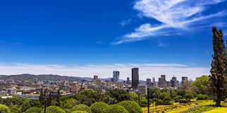 Pretoria, South Africa. Republic of South Africa. Pretoria - capital city, Gauteng Province. Cityscape seen from the Union Buildings stock photography