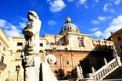 Pretoria square baroque architecture; Palermo Stock Photos