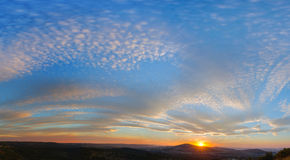 Pretoria sunset panorama royalty free stock images
