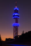 Pretoria Tshwane, South Africa - April 3rd, 2016. Telkom Lukasrand telecommunications landmark tower after sunset. Telkom South Africa telecommunications Royalty Free Stock Photos
