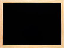 Pretos de madeira do quadro-negro ou do quadro esvaziam Fotos de Stock Royalty Free