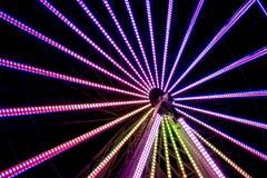 Pretpark van de nacht het Lange Blootstelling Royalty-vrije Stock Foto's