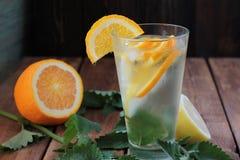 Prettige verfrissende koude drank, Royalty-vrije Stock Foto