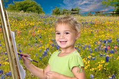 Pretty 5 year old girl Royalty Free Stock Photo