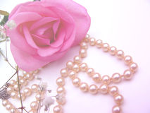 Pretty. Rose with pearls stock image
