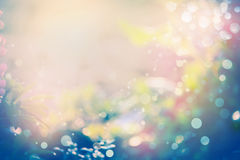 Pretty abstract blurred nature background with sunshine Royalty Free Stock Photos