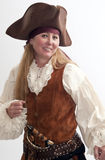 Pretty adult woman as a lady pirate Stock Image