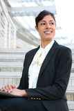 Pretty African American Business Woman Stock Image