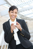 Pretty African American Business Woman Royalty Free Stock Photos
