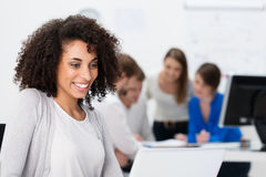 Pretty African American businesswoman Stock Photography
