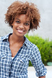 Pretty african american college student. On campus Royalty Free Stock Photo