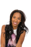 Pretty African American girl isolated royalty free stock photography