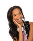 Pretty African American girl isolated Stock Photo