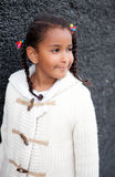 Pretty African American Girl Outdoors Royalty Free Stock Images