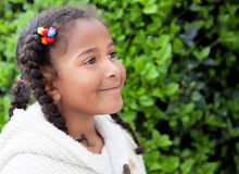 Pretty African American Girl Outdoors Royalty Free Stock Photography