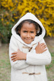 Pretty African American Girl warm Stock Photo