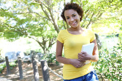 Pretty African American Woman royalty free stock photo
