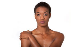 Pretty African American woman Stock Photo