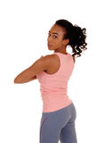 Pretty african american woman in active wear. Royalty Free Stock Photo