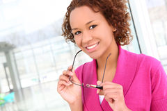 Pretty African Business Woman Stock Photography