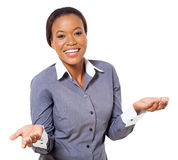 Pretty african businesswoman Stock Photo