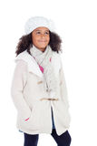 Pretty african girl with winter clothes Royalty Free Stock Photos