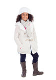 Pretty african girl with winter clothes Royalty Free Stock Images