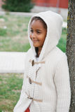 Pretty african girl with winter clothes Royalty Free Stock Image