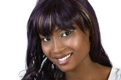 Pretty african woman Closeup. Pretty african woman, Studio shot, Closeup, Cameroon Royalty Free Stock Image
