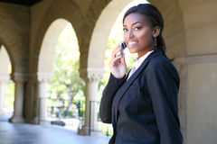 Pretty African Woman at College Royalty Free Stock Images