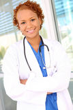 Pretty African Woman Nurse Royalty Free Stock Image