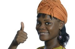 Pretty african woman thumb up Royalty Free Stock Image