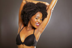 African woman underwear Royalty Free Stock Photo