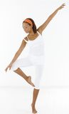 Pretty afro girl dancing ballet Royalty Free Stock Photo