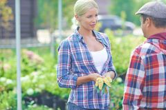 Pretty agriculturist Royalty Free Stock Photos