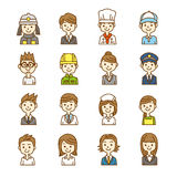 150802 Pretty all. Business people icon man and woman Royalty Free Illustration