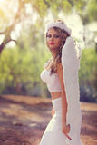 Pretty angel stock photo
