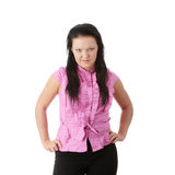 Pretty angry brunette Royalty Free Stock Image