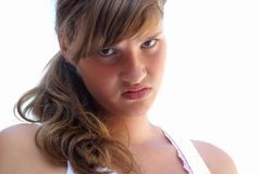 Pretty angry girl. Royalty Free Stock Photos