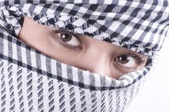 Pretty arabic woman Royalty Free Stock Images