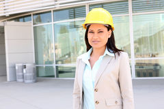 Pretty Architect at Site Royalty Free Stock Photography