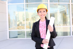 Pretty Architect Woman Royalty Free Stock Image