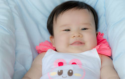Happy asian baby girl Royalty Free Stock Images