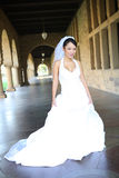 Pretty Asian Bride. A pretty, young, asian bride at her church for wedding Royalty Free Stock Images