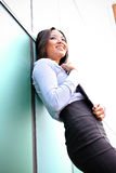 A pretty asian business woman. At the office building royalty free stock photography